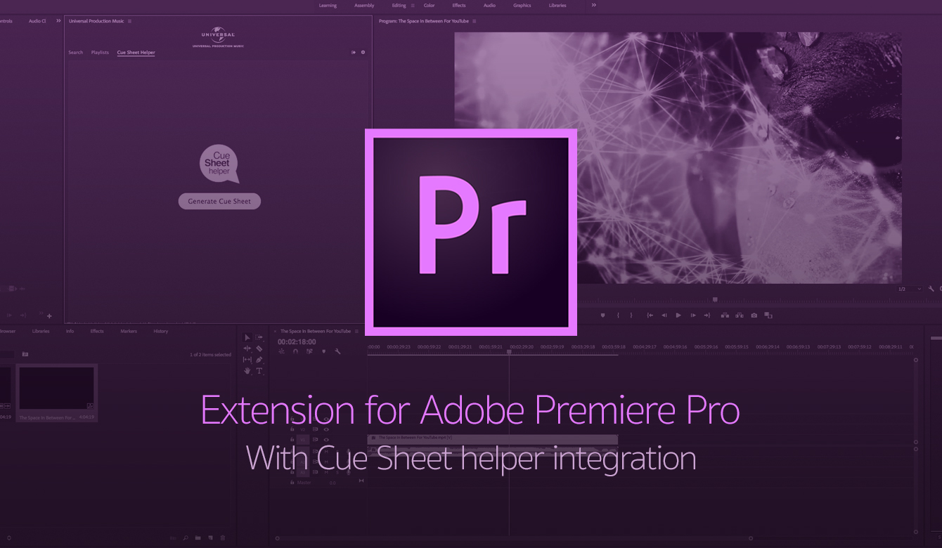 Extension for Adobe Premiere Pro